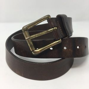 Cathartic Thick Leather belt. Brass Buckle